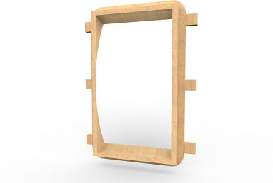 MISC028 - Mirror Board Convex (Tall) - Wall Mounted copy