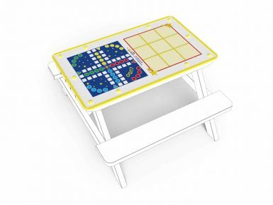 MISC037 - Tabletop - Small - Noughts and Crosses and Ludo - 1 copy
