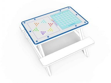 MISC038 - Tabletop - Small - Chinese Chequers, Connect 4 - 1 copy