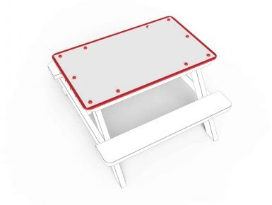 MISC046 - Tabletop - Small - Dry Wipe Board - 1 copy