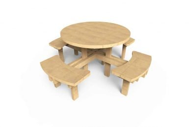 QF090 - Circular Picnic Table copy