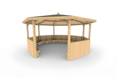 QF092 - Octagonal Shelter - With Sides and Seating copy