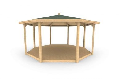 QF098 - Octagonal Shelter - With Decking copy