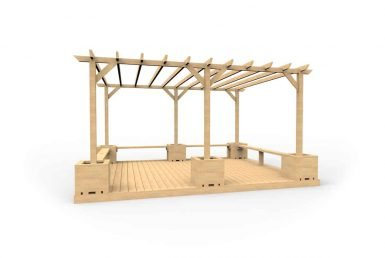 QF108 - Large Pergola with Seating, Planters and Decking copy