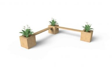 QF134 - Planter Seating - 3 x Planters & 2 Small Benches copy
