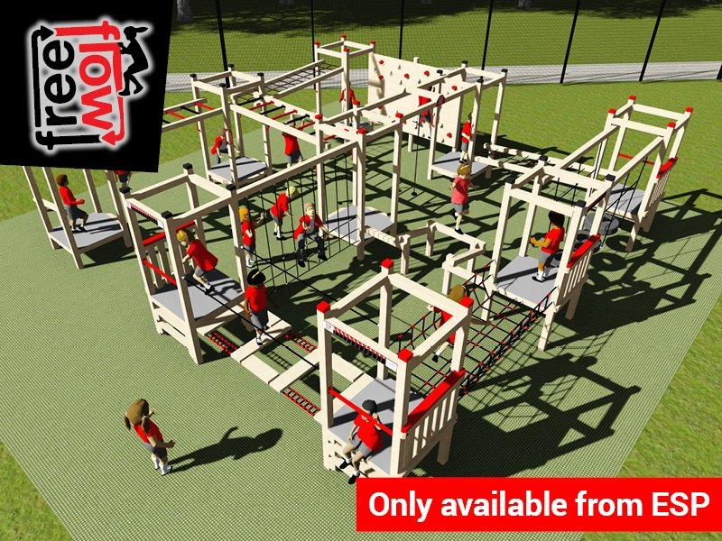 Modular School Playground Climbing Frame Equipment