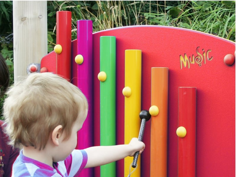Musical play equipment instruments for schools and play areas.