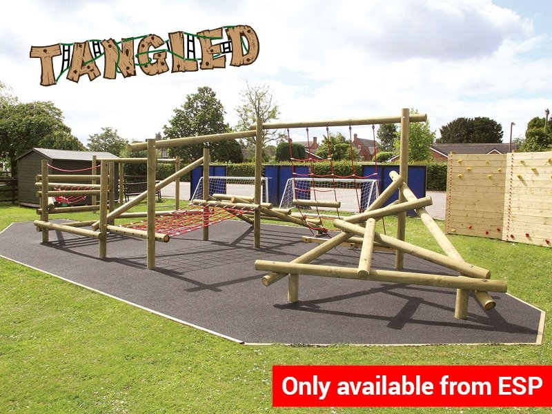 Exciting School Wooden Climbing Frames with Ropes