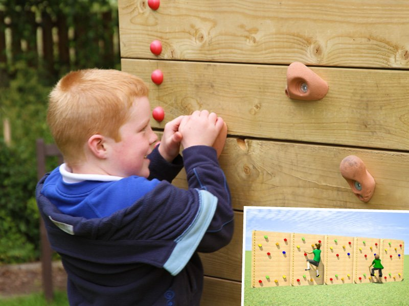 traversing climbing wall for schools special offer