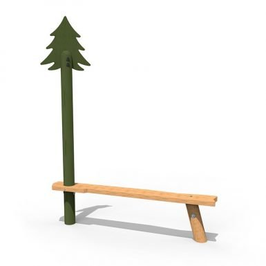 WILD021 - Crooked Pine Tree Bench - Long copy