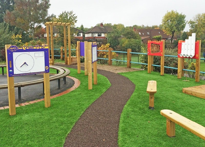 Recreational and Safety Surfaces for playground spaces to add peace of mind and year-round access.