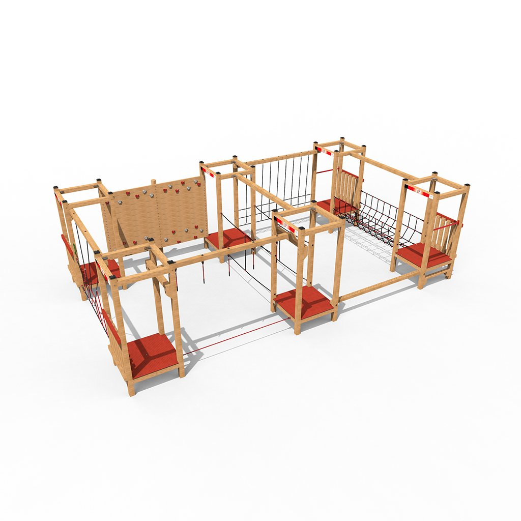 wooden climbing equipment