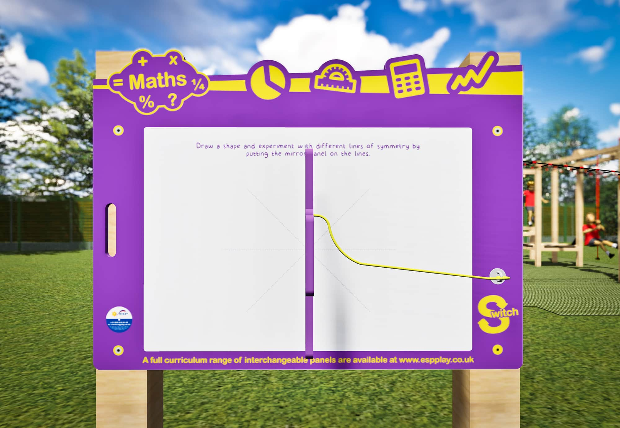 Drawing Lines Of Symmetry Games : Sw math01 switch symmetry board esp school playground equipment