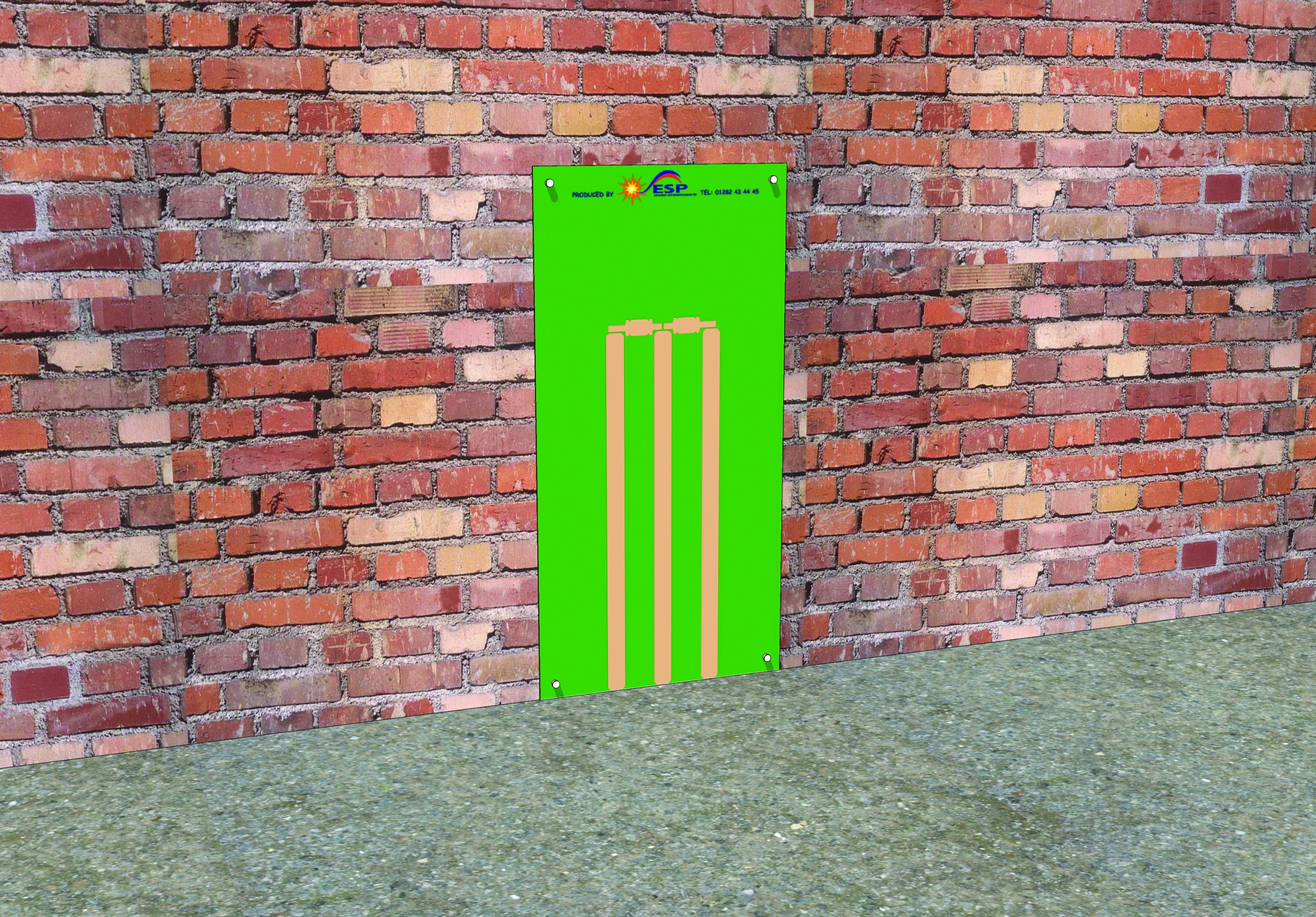 WB013 - Papan Dinding - Cricket Stumps - ESP Play