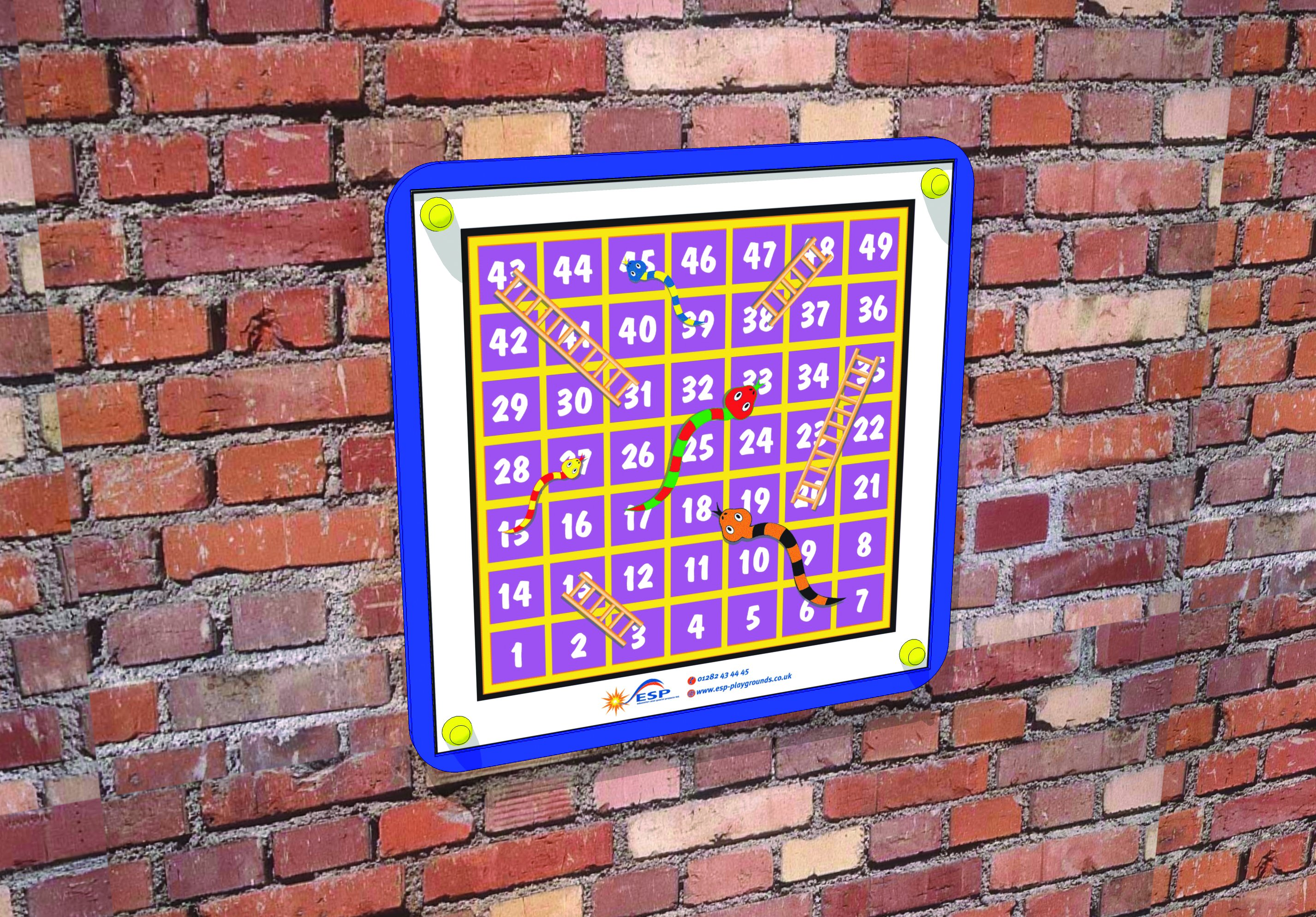 school playground magnetic snakes and ladders game board
