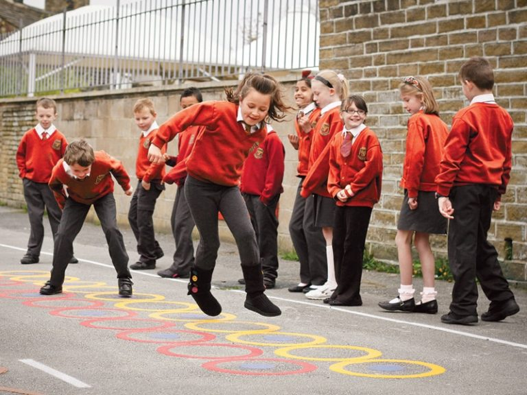 playground markings - outdoor play equipment