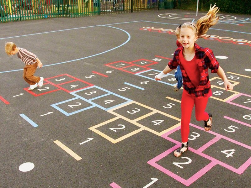 Playground Markings for Schools, sports clubs and play areas.