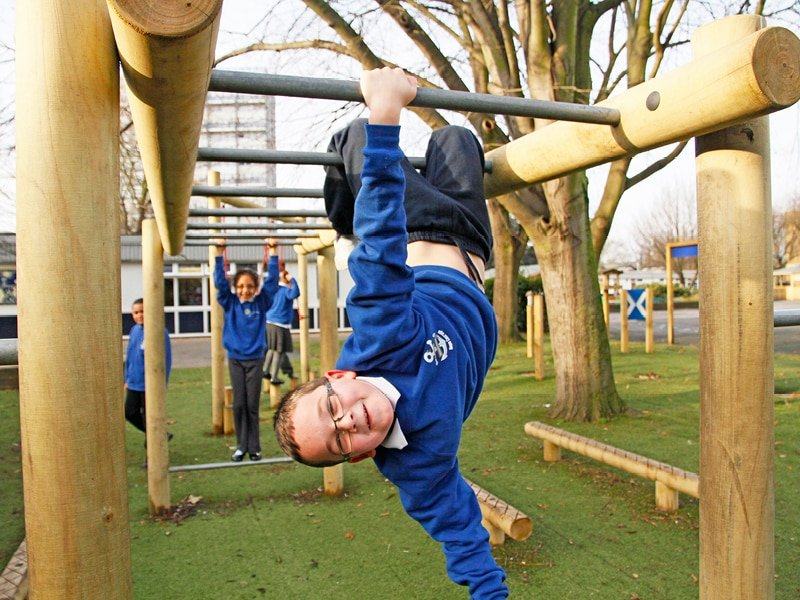 Trim Trail playground climbing equipment for schools and play areas.
