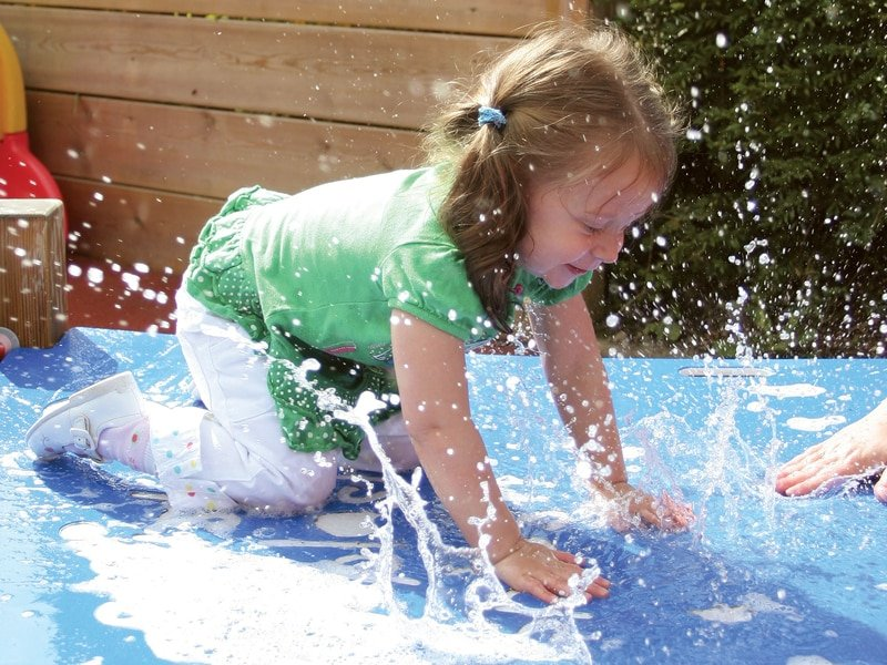 Water and sand play equipment for school play areas.