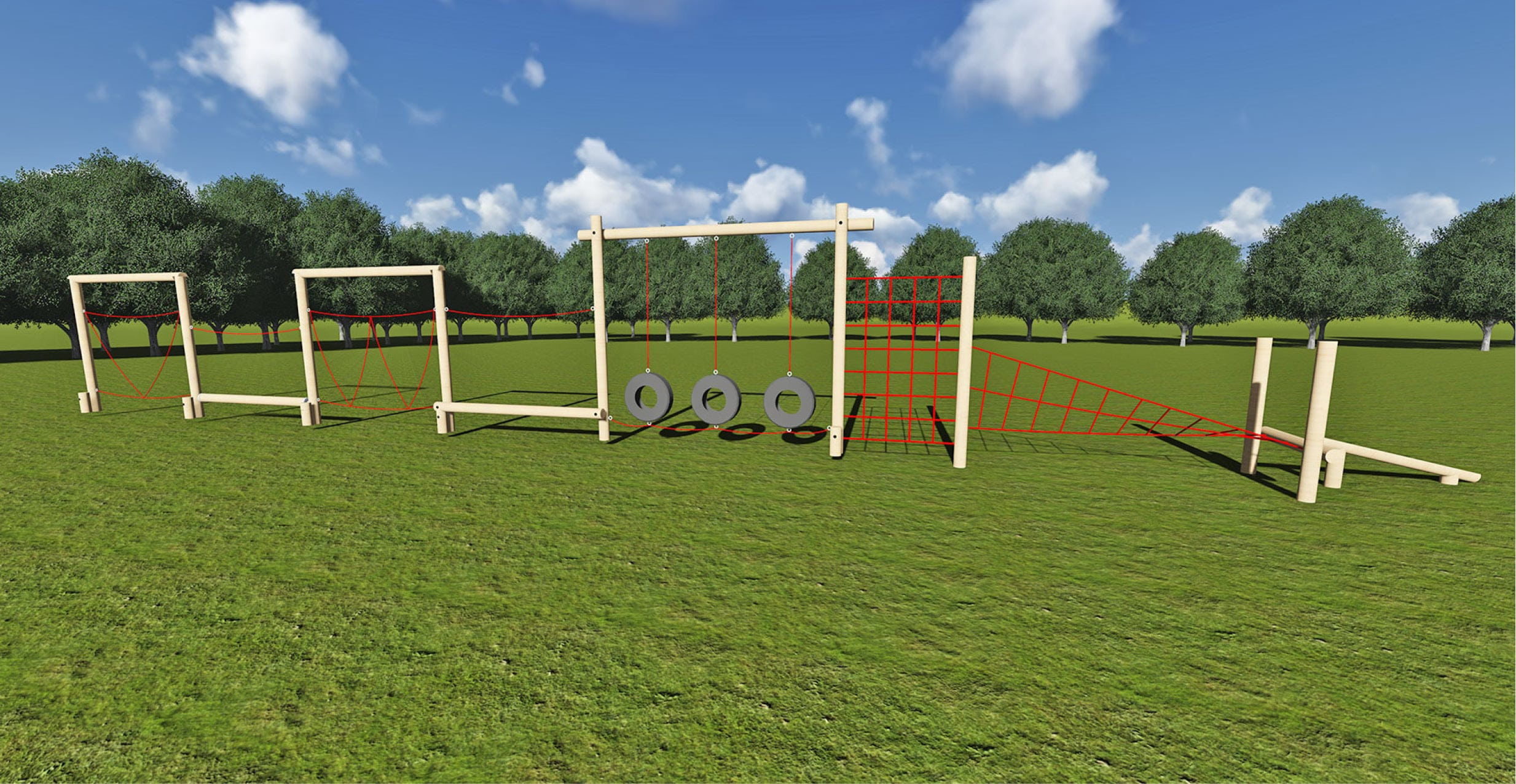 Rope Trim Trail Play Equipment