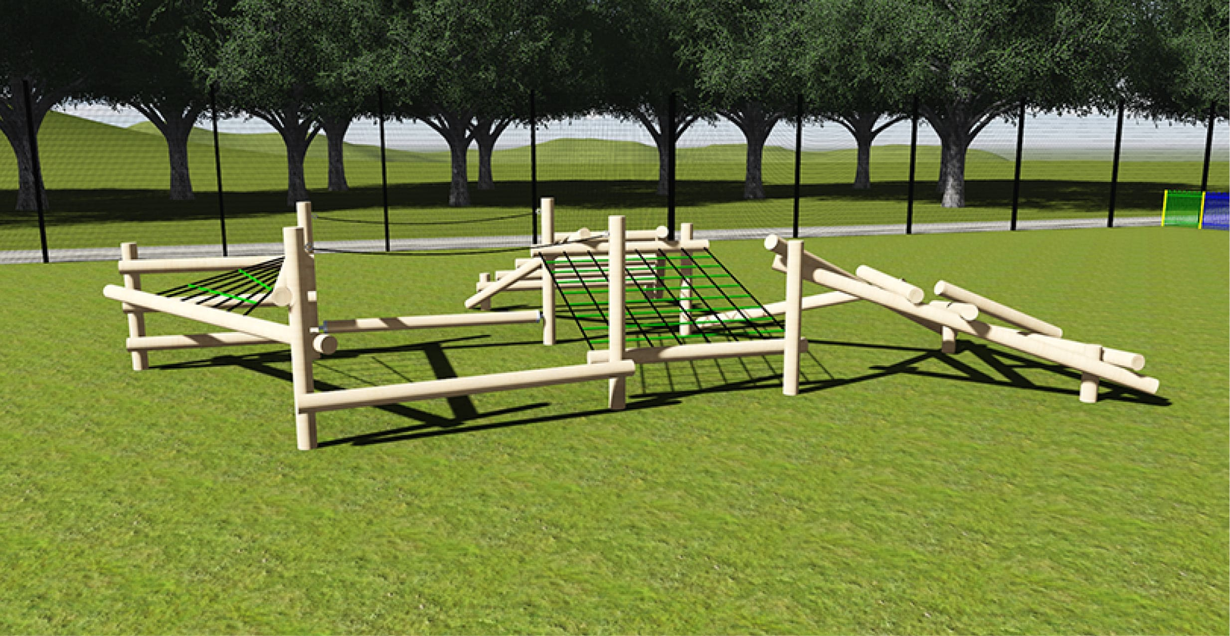 Tangled Wolf Timber Climbing Frame for Schools